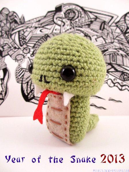 Chinese New Year Snake (Free Crochet Pattern) | Amigurumi und Häkeln
