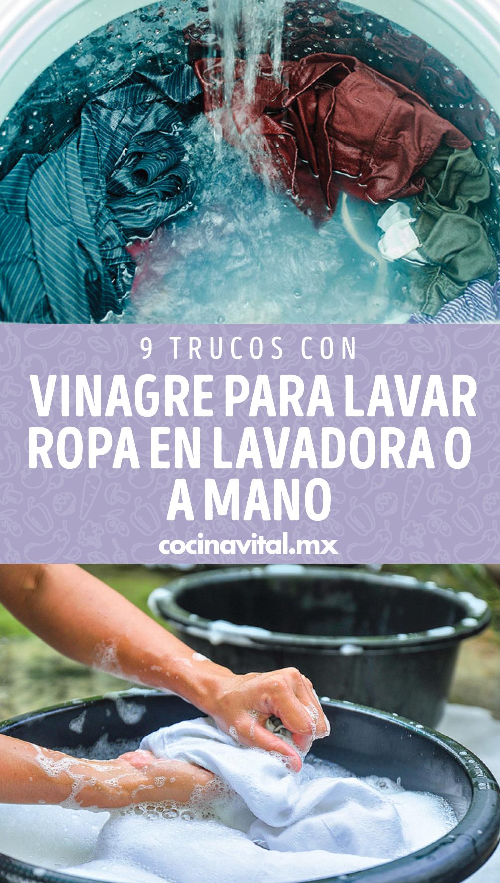 9 Trucos Con Vinagre Para Lavar Ropa En Lavadora O A Mano Consejos De Limpieza Trucos De Limpieza Productos De Limpieza Caseros