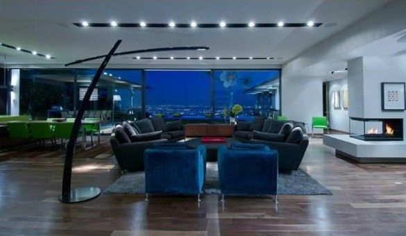 Homesthetics Matthew Perry Bachelor Pad moderne Wohnzimmer | Matthew ...
