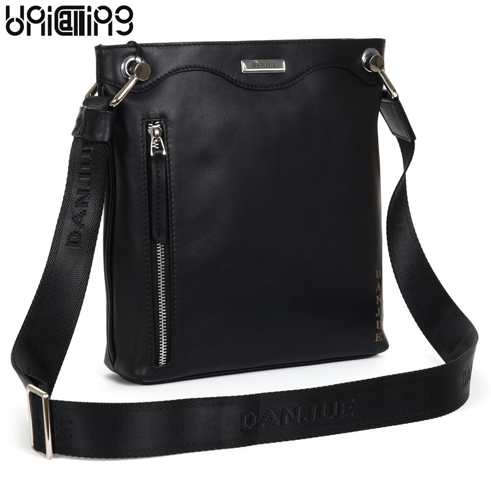 Premium Top Layer Cowhide Genuine Leather men messenger bag UniCalling  brand fashion style leather men bags business casual bag 4a0c4247f40b8