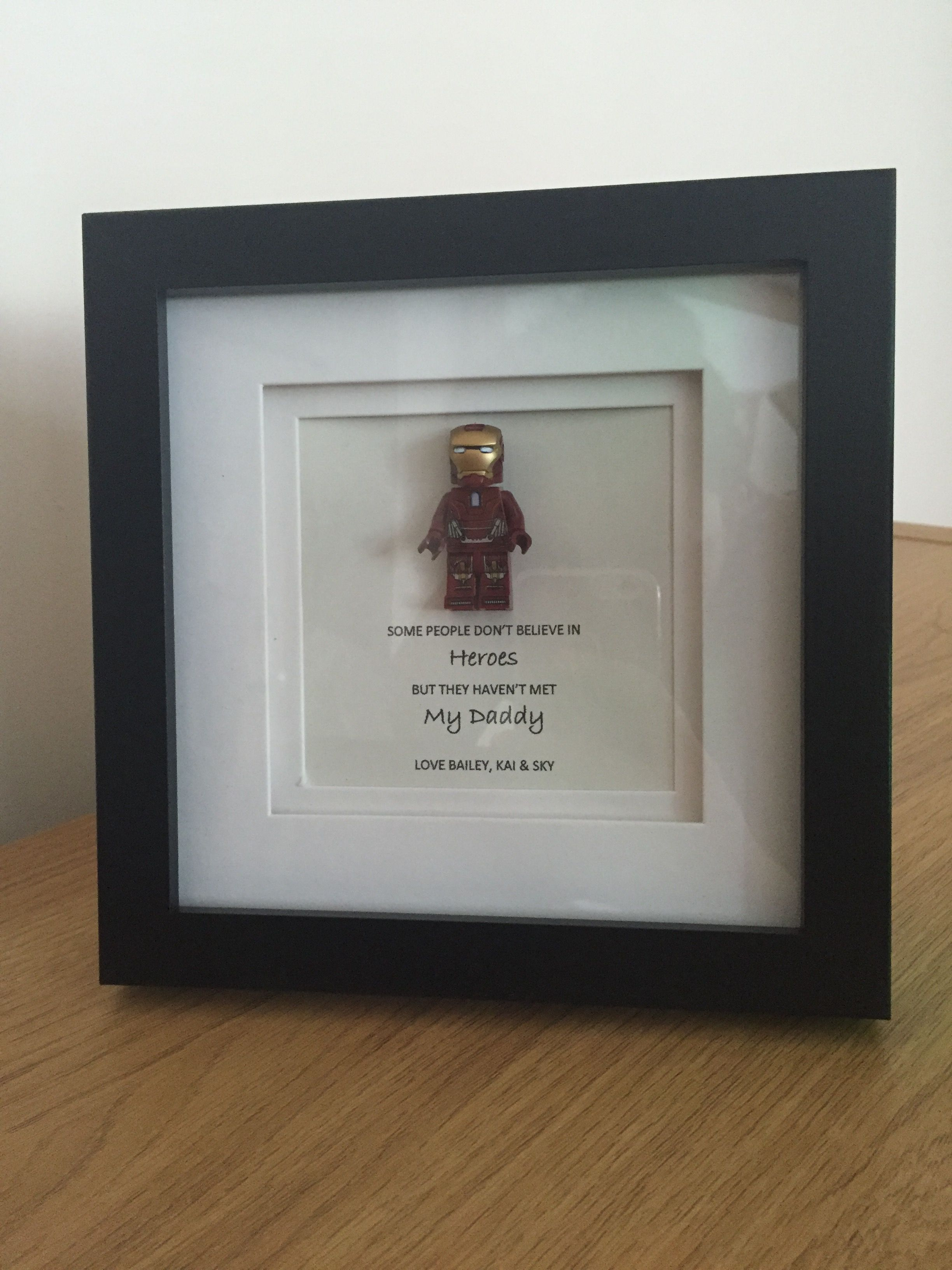 Iron Man Lego Figurine Daddy Is My Hero Hand Made Personalised