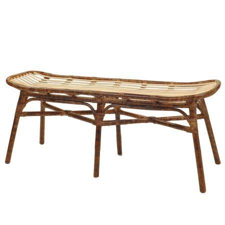 free shipping buy beyla rattan bench marble brown at walmart com