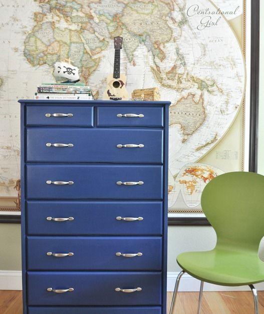 Napoleonic Blue Chalk Paint Decorative By Annie Sloan On Dresser Centsational