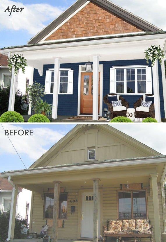 Full Exterior House Color Consultation - Exterior Home Designs - Exterior Home Paint Selections Color Palette