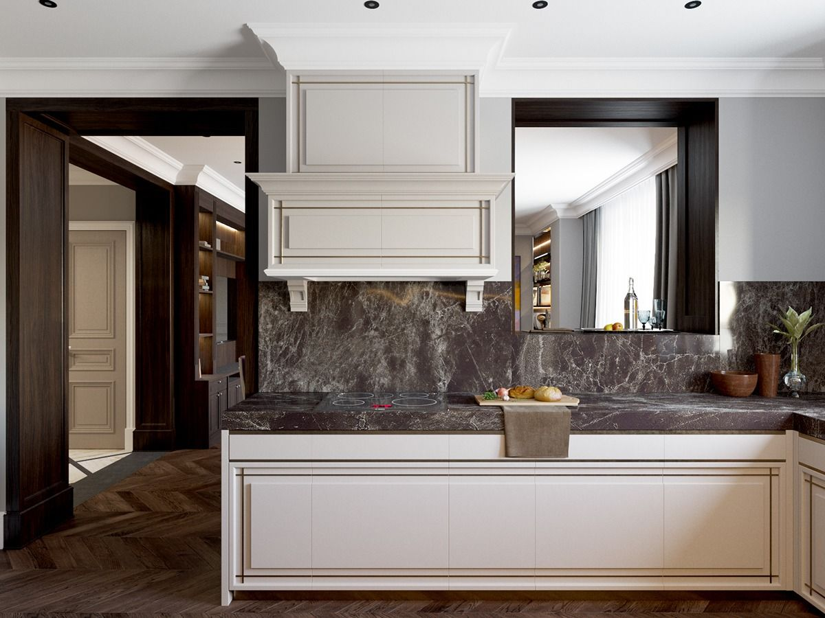 Luxury Art Deco Style Kitchen Cabinets