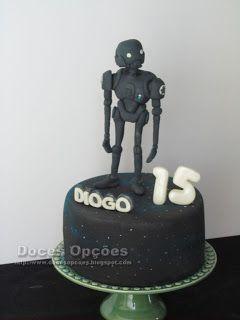 Doces Opções: Bolo de aniversário K-2SO Star Wars Rouge One