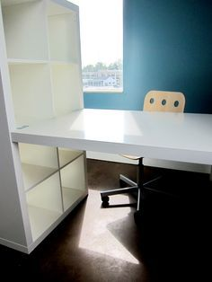 Diy Bookshelf From Ikea Would Put Desktop On Other Side Of Also For Two Person Desk
