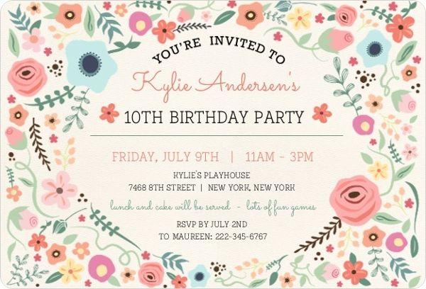 birthday party invatations