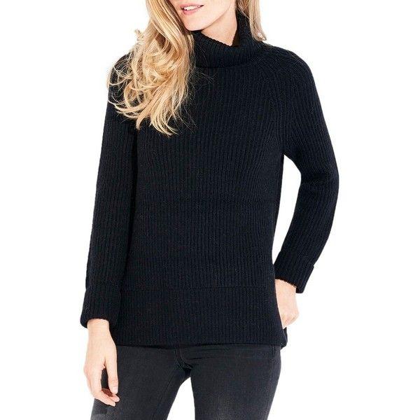 Women's Ayr The Woolfie Merino Wool & Alpaca Turtleneck Pullover ...