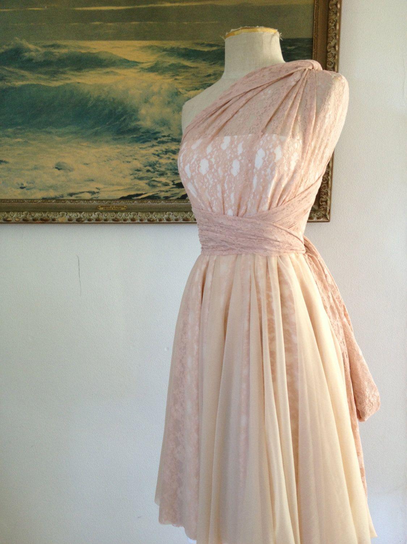 Short Chiffon Infinity Wrap Dress Custom choose colors