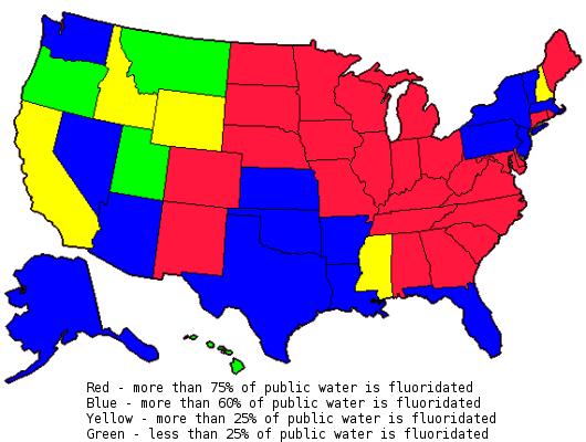 fluoridelevelsUSAmap healthy living Pinterest Drinking