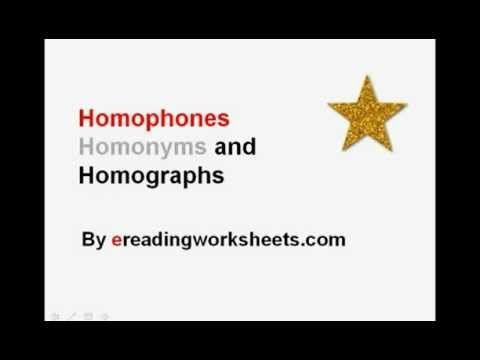 Homophones, Homonyms, and Homographs | Common Core Reading ...