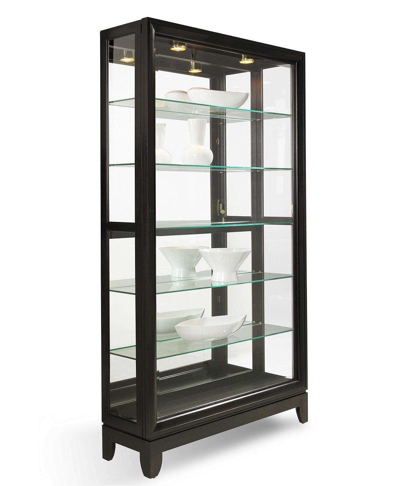 Macysdreamfund Dual Slide Contemporary Curio Cabinet