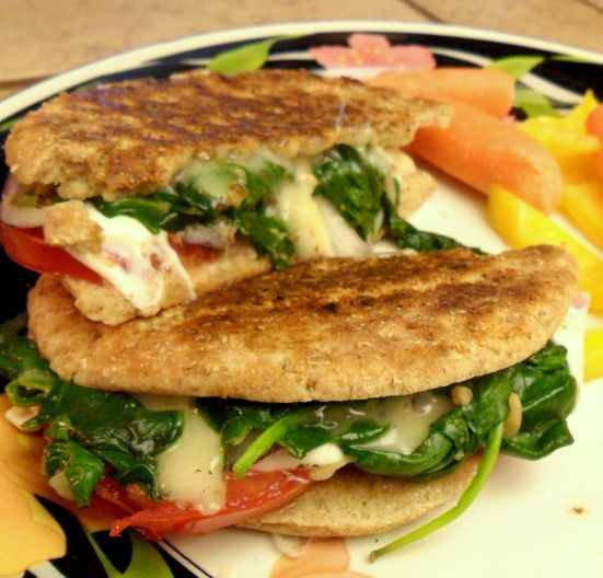 Grilled cheese With spinach