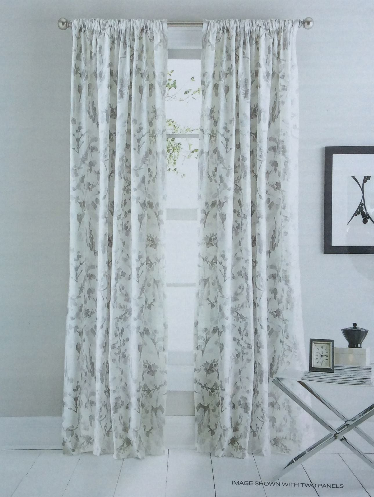 botanical watercolor pocket road ash panels white branches grey painted curtains pin of floral set window by inch gray flowers cotton dkny