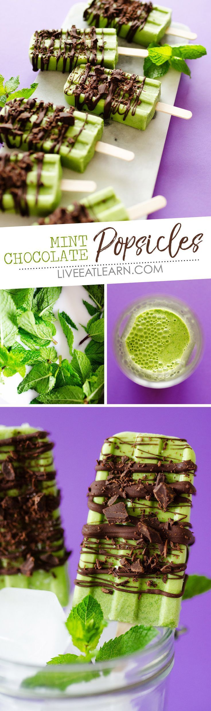 Mint Chocolate Popsicles -