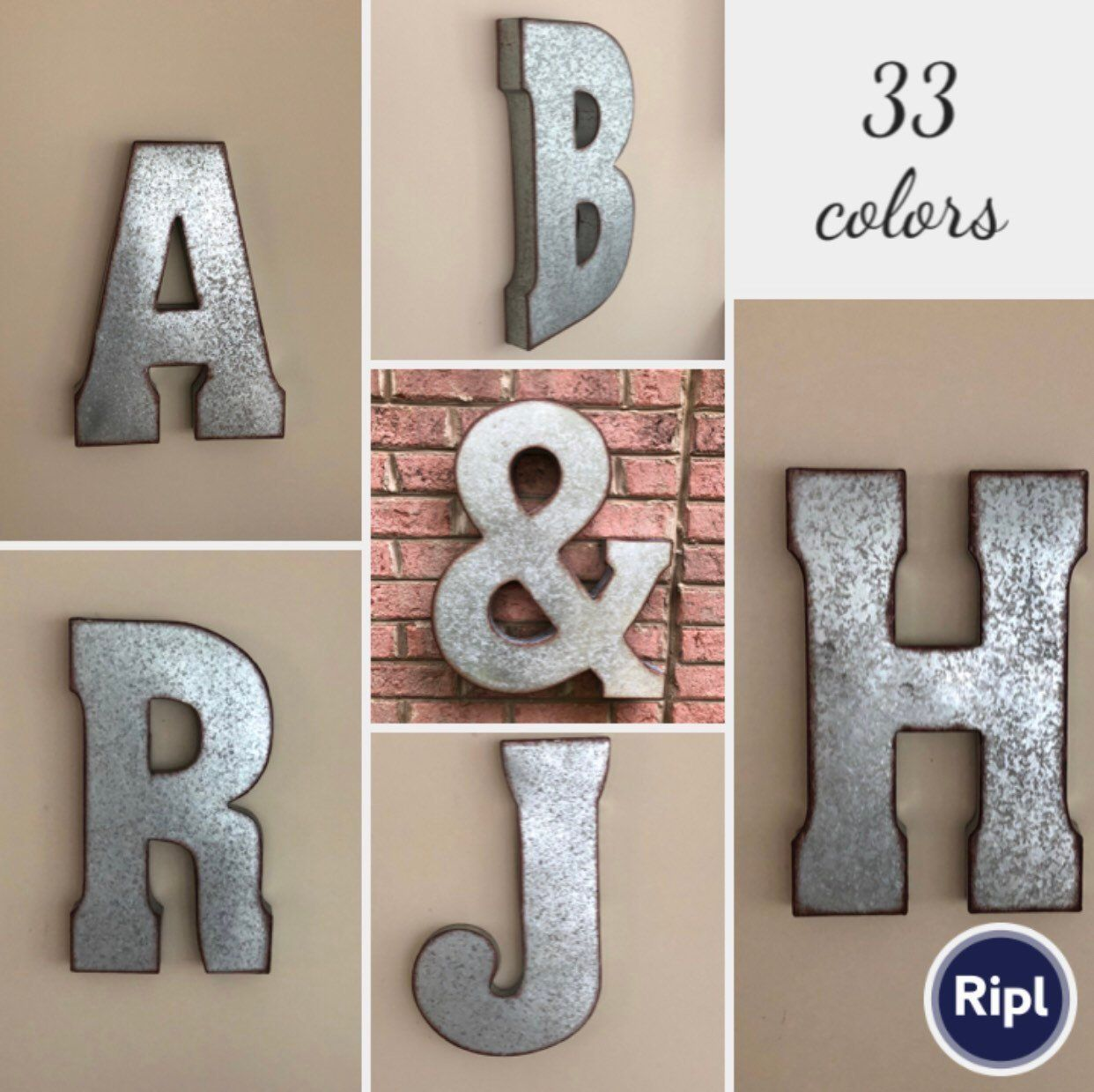 Extra Large Metal Letters Wall Decor