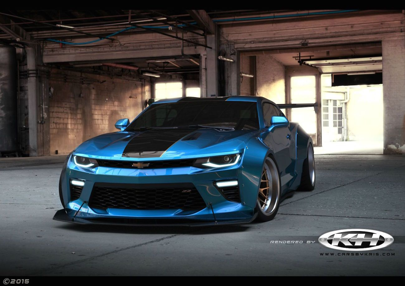 2016 chevrolet camaro gets extreme liberty walk kit as rendering