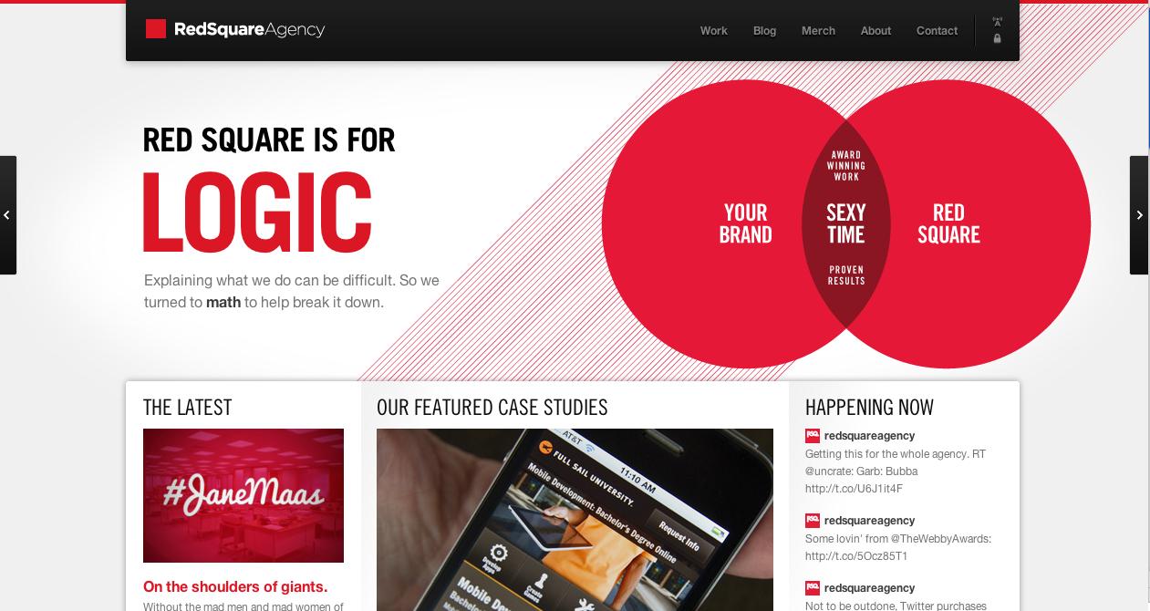Funny Stuff Red Square Web Design Inspiration Web Design Web Inspiration