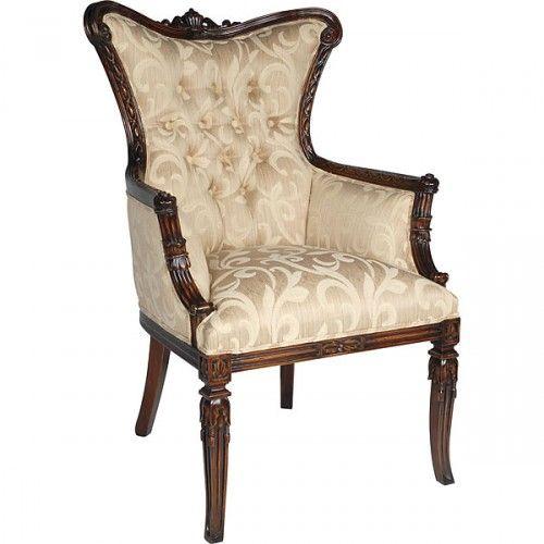 Coral Victorian Chair: Living Room Furniture   Zara Furniture Inc.