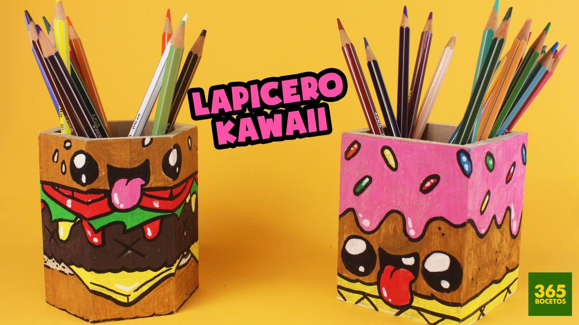 Lapiceros Decorados Kawaii Organizador De Escritorio Decorado Con