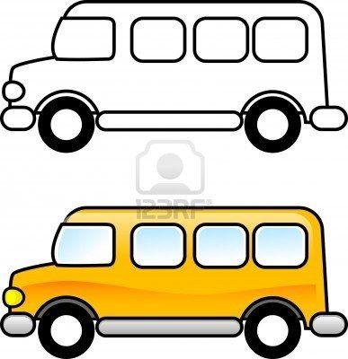 Stock Photo Dessin Bus Coloriage Enfant Et Bus Dessin