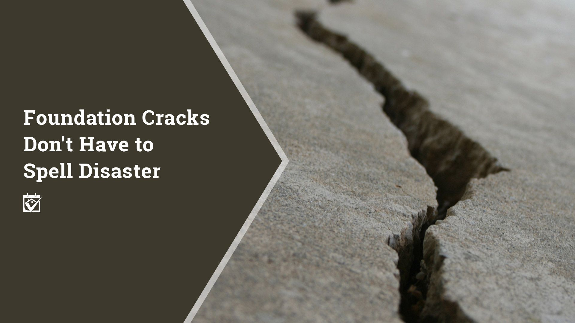 Foundation Cracks Don't Have to Spell Disaster Sell your