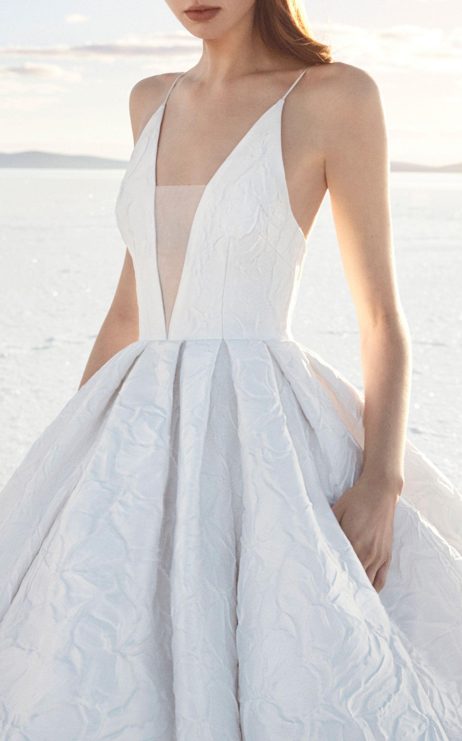 ad28675a4ab Alex Perry Bride Sienna Floral Brocade Gown