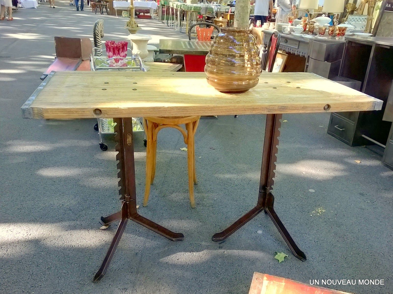 Brocante D Coration Un Nouveau Monde Table Industrielle