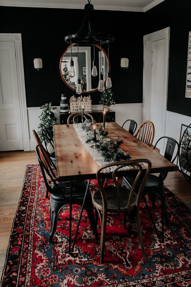 Photo of A Modern, Moody, Victorian Home at Christmas – Miranda Schroeder