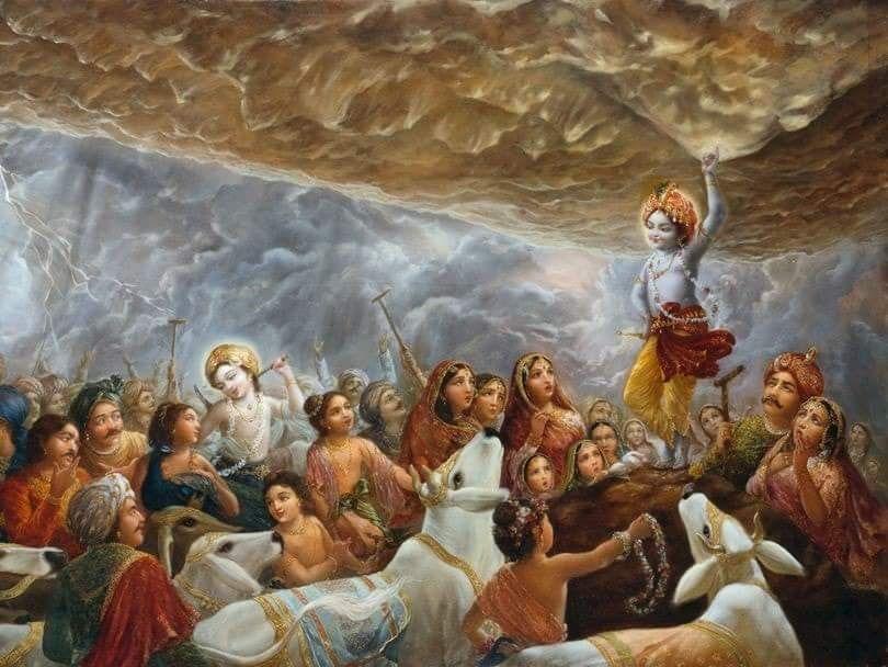 Krishna Holding Goverdhan - Top 10 Lord Krishna Images