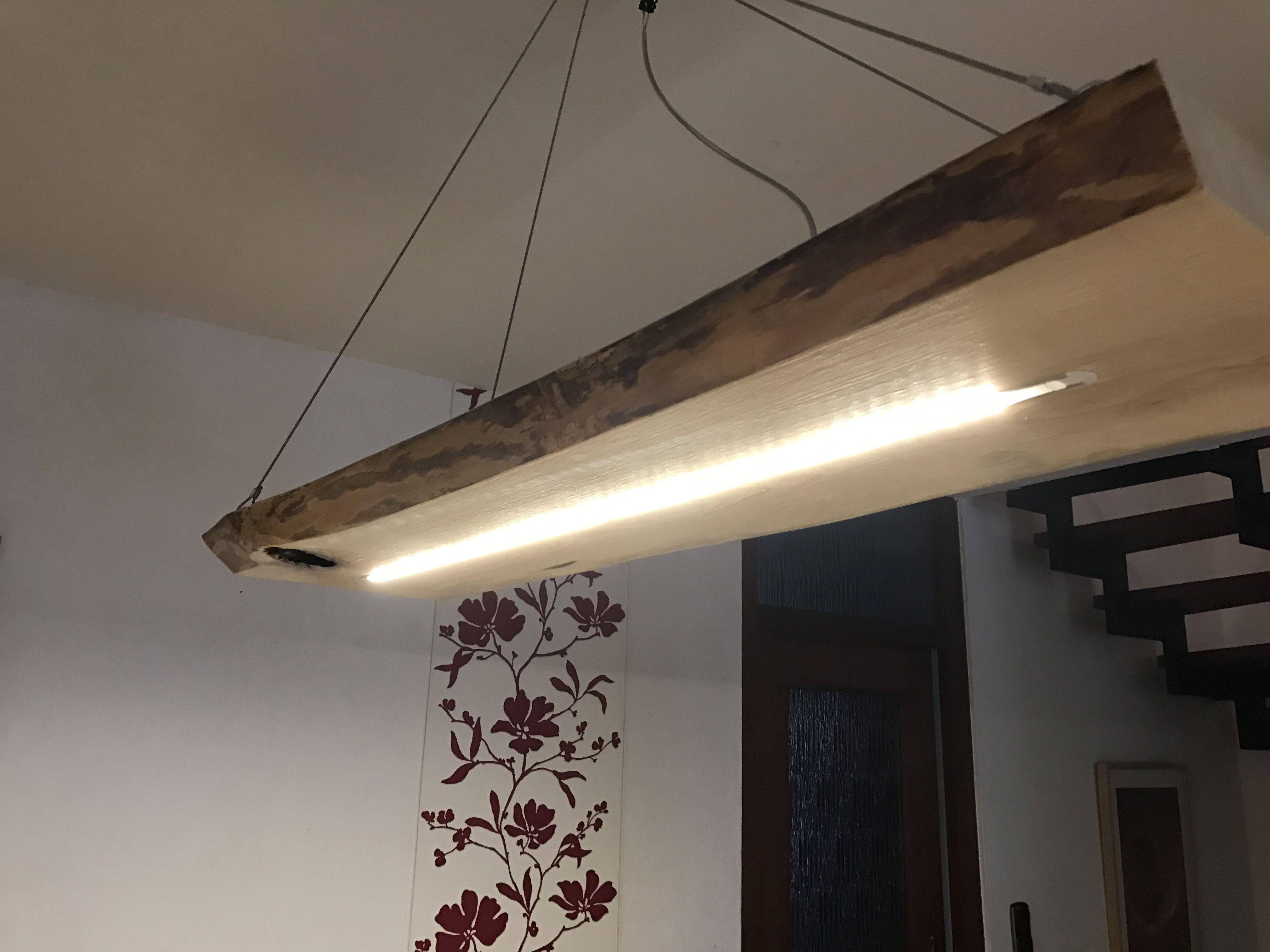 Günstige Wohnzimmerlampen ~ Pin von blockholz schmiede auf led holz lampen natur rustikal