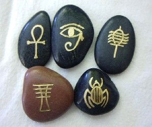 Symbol Stones Egyptian Symbol Runes Painted Rocks