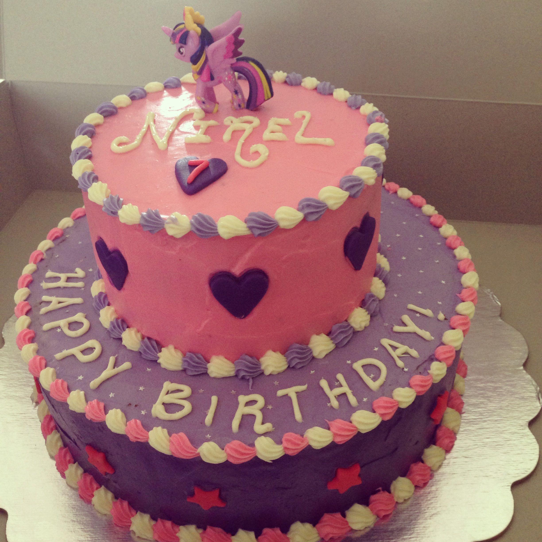 My little pony twilight sparkle themed cake My Creations