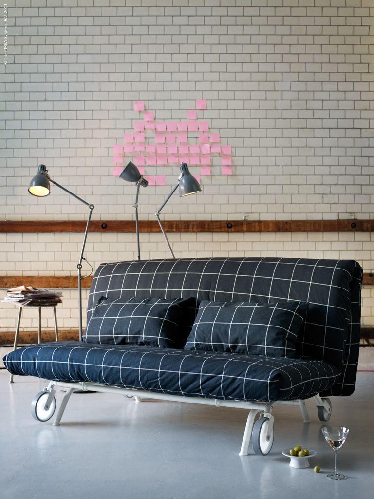 ikea ps l v s b ddsoffa own styling pinterest ikea och vardagsrum. Black Bedroom Furniture Sets. Home Design Ideas