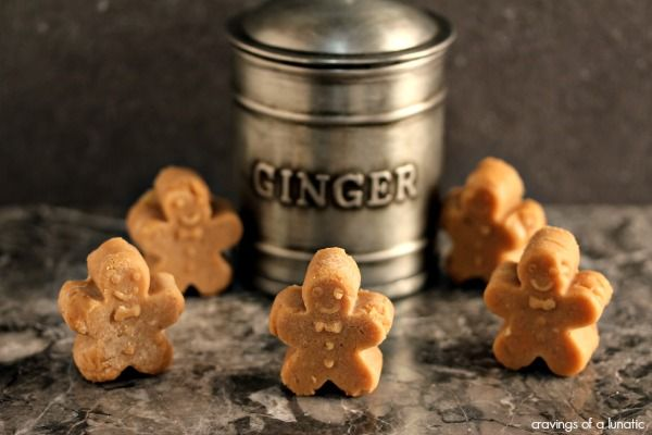 Mini Gingerbread Fudge - Amazing gingerbread fudge shaped like tiny gingerbread men. : cravingsofalunatic