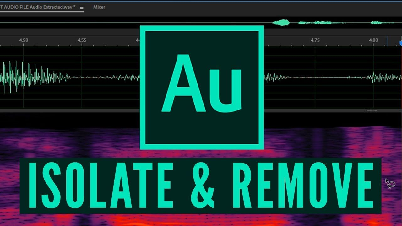How to isolate remove unwanted sounds in adobe audition