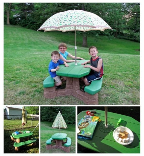 Kids Picnic Bench Step2 Enter To Win Picnic Table With Umbrella