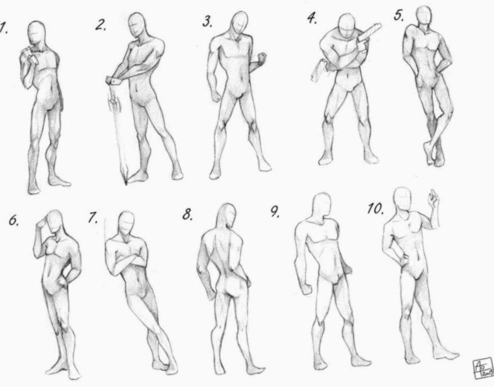 16 Anime Poses Male Group Drawing Poses Male Male Body Drawing Anime Poses Reference