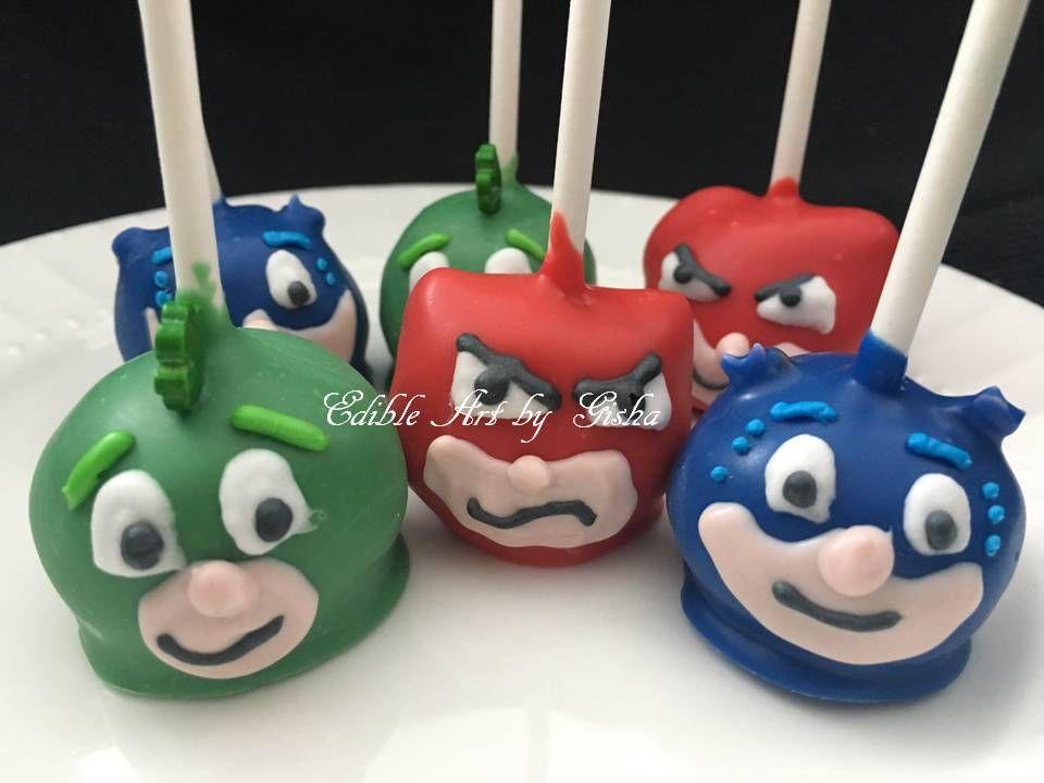 Pj mask cake pops cake pops baby shower cake pops