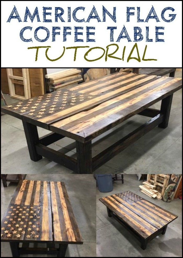 74a64aec6850 How to Make an American Flag Pallet Coffee Table