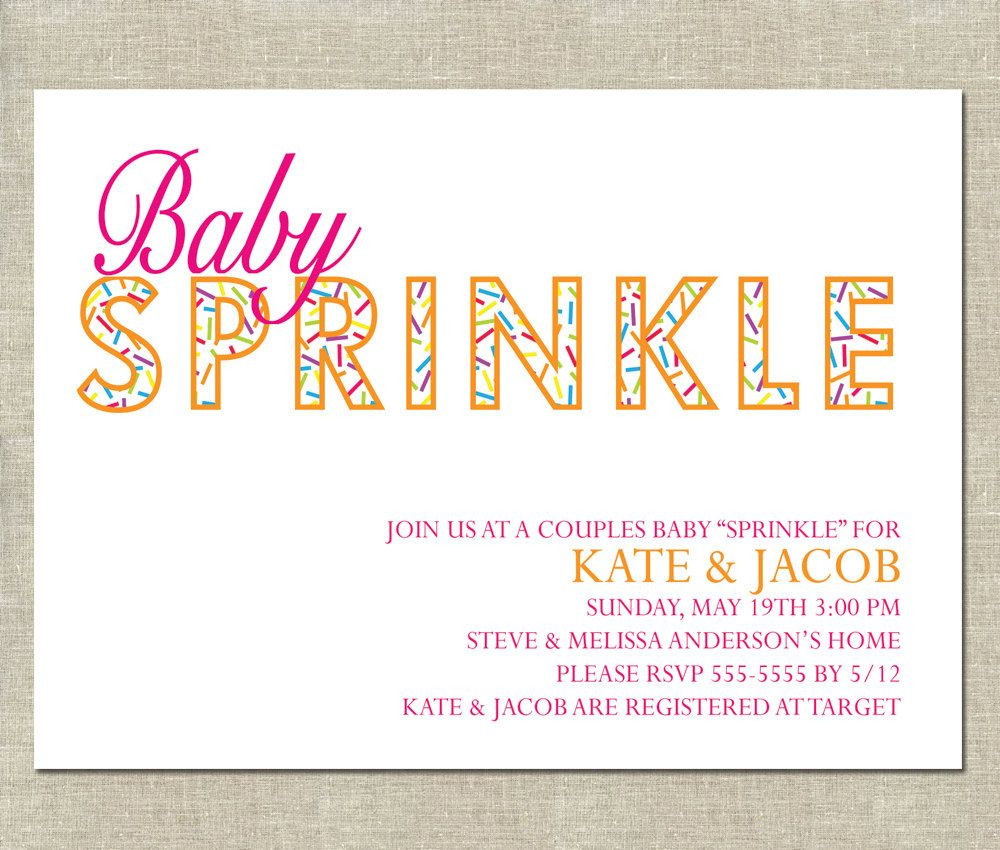 Baby Sprinkle Invitation Printable Couples Sprinkle Baby