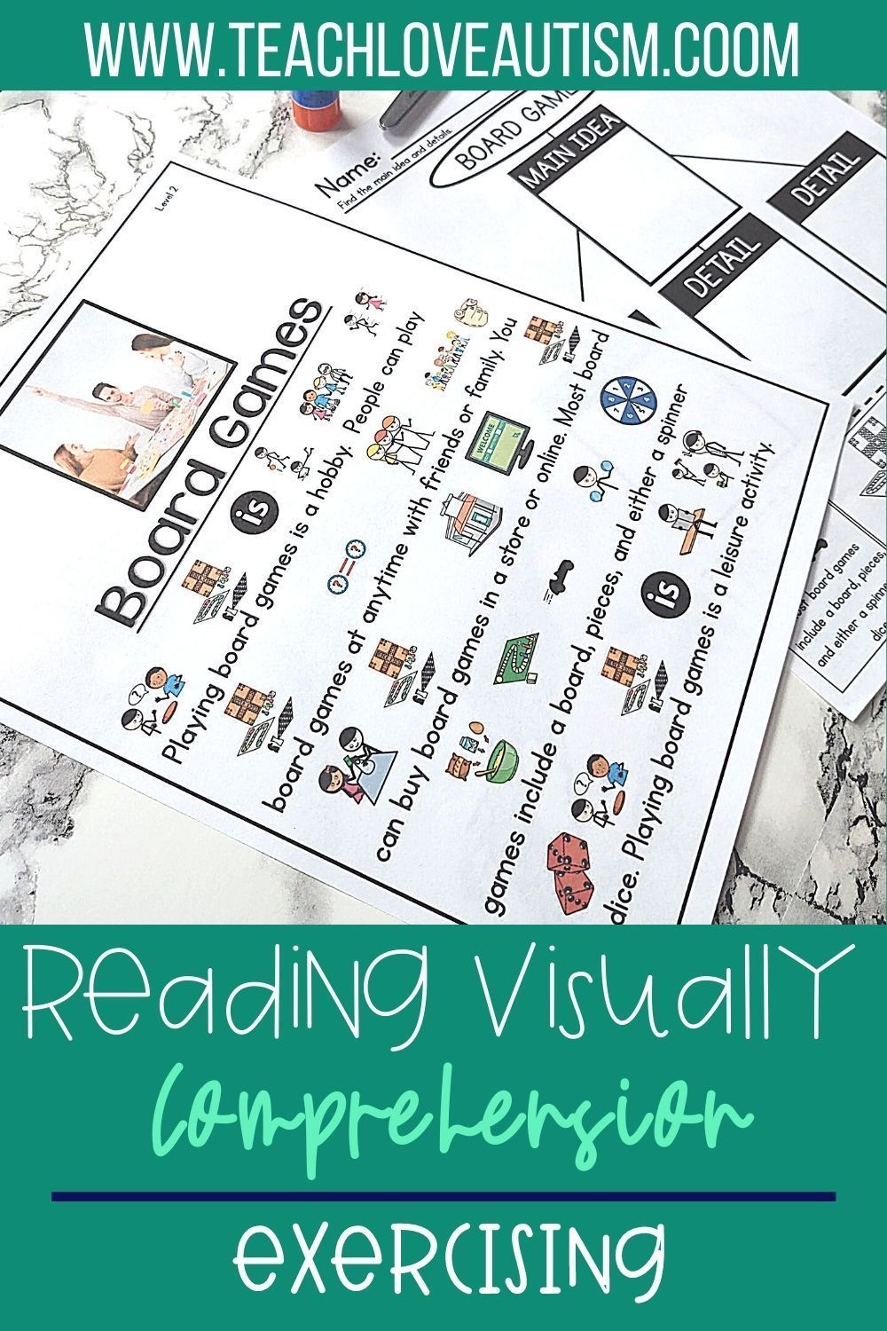 Board Games Reading Visually Comprehension In 2021 Reading Comprehension Activities Reading Comprehension Skills High School Special Education Teacher [ 1500 x 1000 Pixel ]
