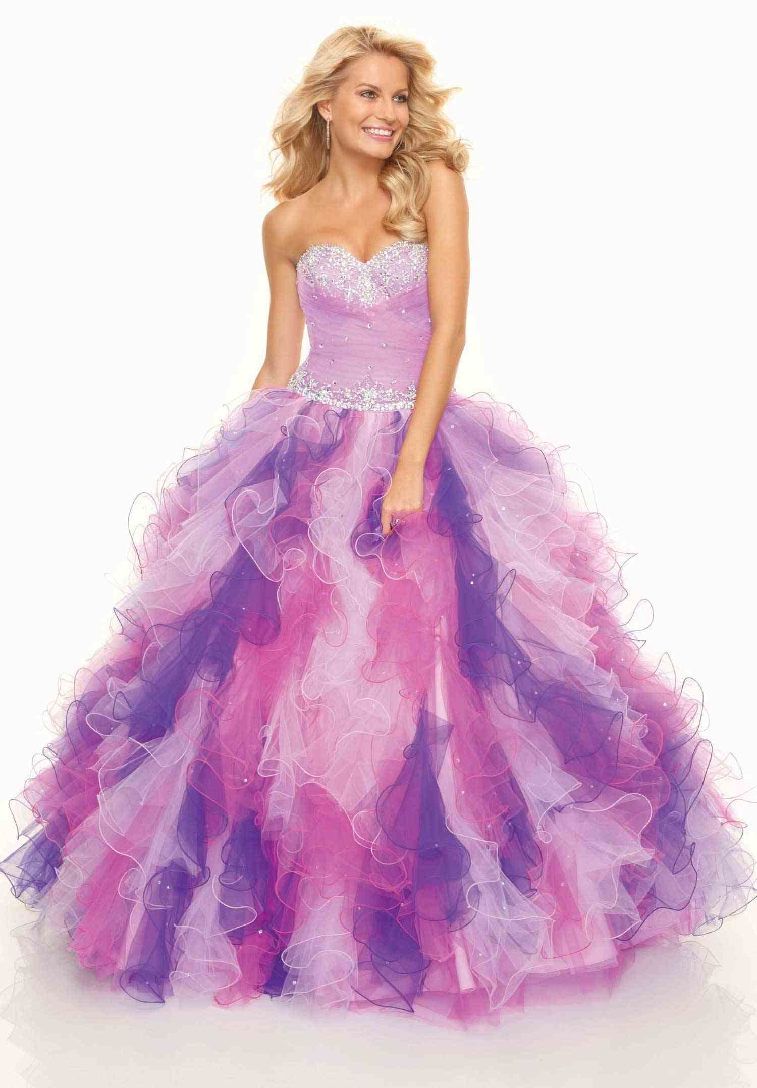 Purple pink and white prom dress my style pinterest