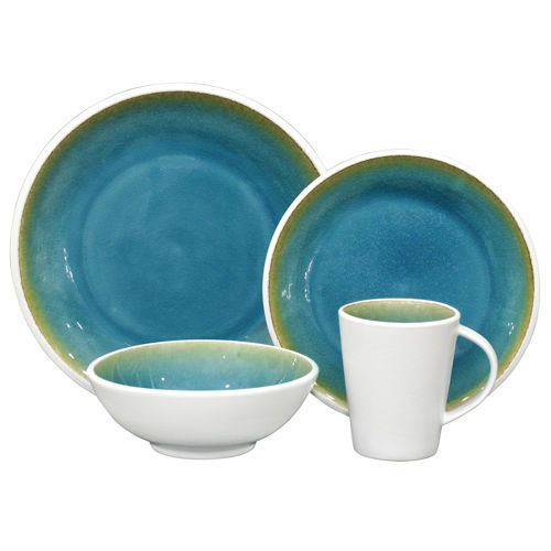 Over u0026 Back By The Sea 16-piece Dinnerware Set  sc 1 st  Pinterest : over and back dinnerware - pezcame.com