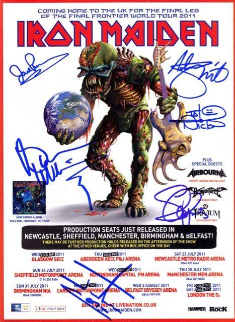 Iron Maiden Tour Posters Iron Maiden Final Frontier Tour
