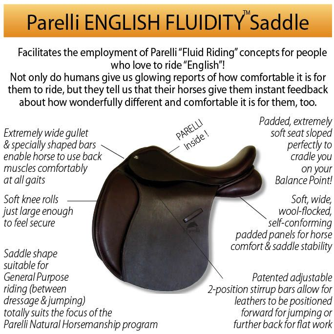 I NEED THIS IN MY LIFE!!!   Brown Parelli English Fluidity Saddle