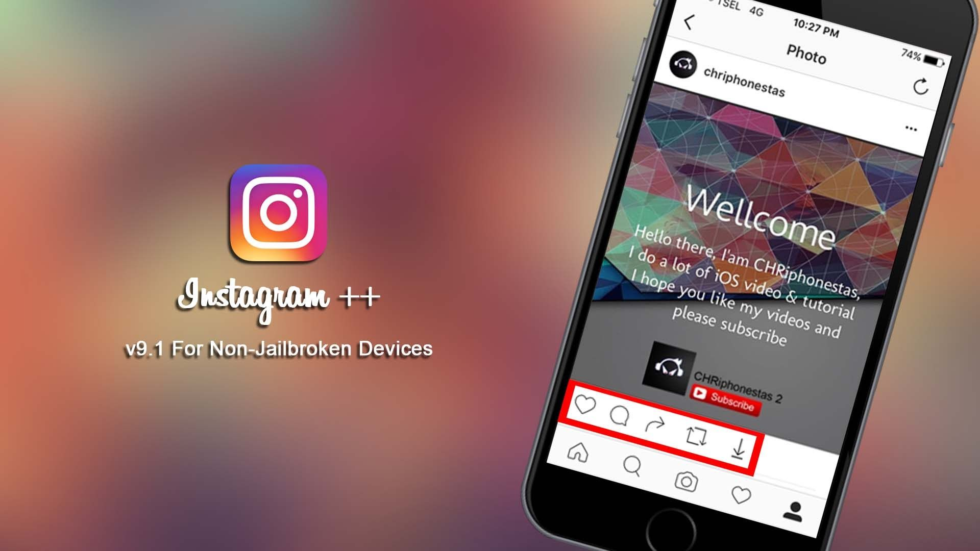Update] Install Instagram ++ v9 1 For iOS 9 3 5 / 10 Without