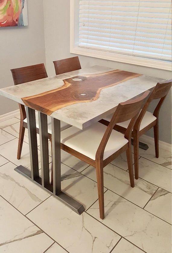Design Dining Table Base Heavy Duty Sturdy Steel Base 2 Legs
