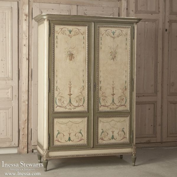 antique furniture | antique armoires | 19th century french painted